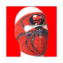 Neoprene mask spider black/red