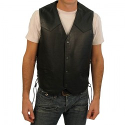 Leather Vest Size 2XL